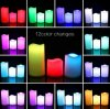 Set of 3 Flameless LED Candle RGB Remote with Timer and 7 Colour 12 Changing Battery Powered LED ...