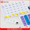Plastic Push Button Pill Box with 28-Cases (KL-9048)