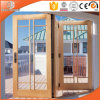 Aluminum Clad Wood Glass Folding Door, Customized Size and Latest Design Thermal Break Aluminium Folding Door