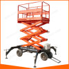 Sjy 4~18m Movable Scissor Lift with Four Supporting Legs