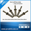 Wedge and Shims or Hand Splitters for Breaking Block