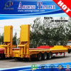 3 Axles Low Boy Truck Loader Semi Trailer for Uruguay