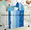 100% Polyester Microfiber Comforter Set for Babies 4 PCS 1PC Comforter 1PC Pillow Case 2PCS Bolster