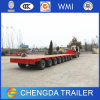 8 Steering Axle Lowbed Trailer with Gooseneck for Sale