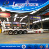 80 Tons Low Bed Trailer, 4 Axle Low Flatbed Semi Trailer