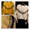 National Style Pullover Knitted Sweater with Long Sleeve