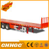 High Quality Flatbed Semi-Trailer with 1200mm Front Frame
