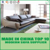 Contemporary Nordic Style Leather Upholstered L Shape Sofa