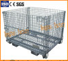 Galvanized Industry Foldable Metal Wire Mesh Storage Cage