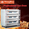 3 Deck 9 Tray Commercial Gas Pizza Deck Oven for Bakery Factory