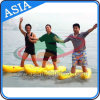 Yellow Color Inflatable Water Walking Shoes Floating on The Water for Adults