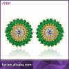 Made in China Fashion Hot Sale CZ Gold Plated Earrings for Women Party