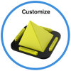 Multi-Function Flexible Silicone Pyramid Phone Holder