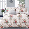 Flowers Printed Cotton Bed Sheets with Pillowcases Cover King/Queen Size
