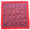 China Factory OEM Produce Custom Design Print Cotton Red Paisley Bandanna Scarf
