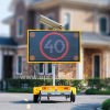 Outdoor Traffic Color LED Sign Solar Powered Vms Trailer, Mobile Variable Message Sign