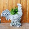 Wonderful Lovely Cock Granite Stone Finish Garden Flower Pot