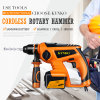 Kynko Professional Cordless Rotary Hammer Breaker Hammer Drill