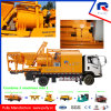 Diesel and Electric Truck Mounted Twin Sharft Concrete Mixer with Pump