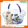 Round Oval Metal Wire Cosmetics Shopping Basket