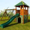 Children Toys Wooden Playground Swing and Slide Set (09)
