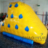 Yellow 0.9mm PVC Inflatable Water Climbing Wall Water Iceberg