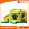 PVC Tarpaulin Inflatable Pentagon Gonome Slide Bouncer Combo T3-410