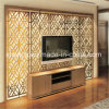 Room Design. Stainless Steel Screen Background