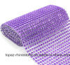 Glass Stick Rhinestone Hot Fix Rhinestone Back Sticker Mesh Rhinestone Row Rhinestone for Accessories DIY (TP-091purple)