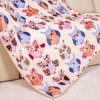 Autumn and Winter Flannel Blanket Children Blanket with Printed Owl