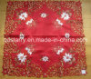 Xmas Candle Embroidery Red Color Table Cloth 938