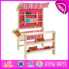 2014 novo e Popular Wooden Toy Shop, Top Quality Toy Fruit Shop Toy Made de Wood, Without Fruit Accessories W10A016