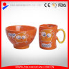 Set of Bowl and Mug with Imprint