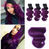 "24"" Ombre Color Human Hair Extension Wave Hair"