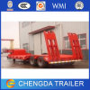 60 Tons 2 Axle Lowbed Semi Trailer for Sale