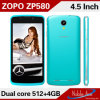 Mtk6572, Dual Core Dual SIM Card Android Mobile Phone Zopo580