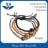 Gold Steel Beads Bracelets for Man