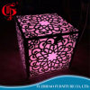 Engraved Arts Stainless Steel with LED Light Wedding Furniture Dining Table