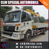 China New Auman 4X2 8ton Crane Truck