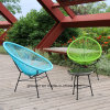 Metal PE Garden Wicker Set Rattan Beach Chair