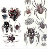 Fashionable Spider Waterproof Temporary Tattoo Stickers Art Tattoo