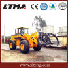 Best Price 8 Ton Log Wheel Loader with Grapple Attachment