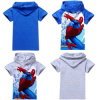 Boys Spiderman Hooded Superhero Kids T-Shirt (A626)