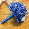 Navy Blue Wedding Bouquets Bridal Accessory Bouquet with Rhinestone