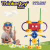 Robot Shape Plastic Building Toy for Fine Motor Skill