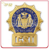 Custom Brass Stamped Gold Plated Metal Security Badge