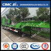 Green Lowbed Semi-Trailer with Concave Beam
