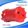 Rock Blasting Hole Thread Drill Bit for T45 Extension Rod