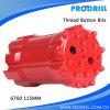 Rock Blasting Hole Thread Drill Bit for T45 Extension Rod