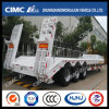White Lowbed Semi-Trailer with Concave Beam